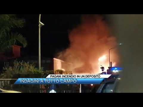 Pagani Incendio In Un Deposito Indagini A Tutto Campo