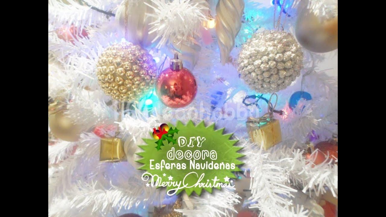 diy haz tus esferas navideas ideas para decorar tu rbol de navidad youtube