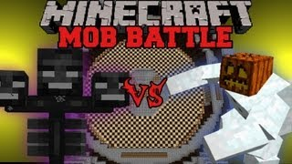 Mutant Snow Golem Vs Wither - Minecraft Mob Battles - Mutant Creatures Mod