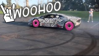 Taking friends for their first time donuts! 800HP Lamborghini Funny Reactions!