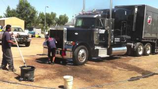 Special Truck Wash In Denver On A Two Million Dollar Tractor Trailer