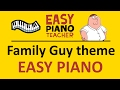 watch he video of EASY piano songs: How to play the Family Guy theme - keyboard tutorial note-by-note