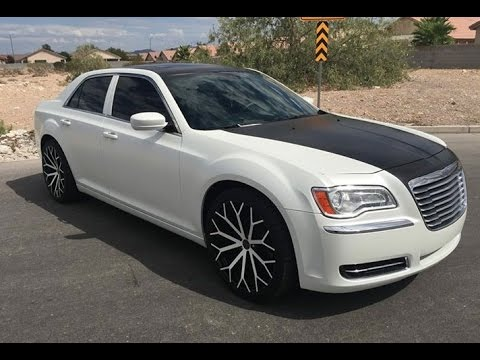 Chrysler 300 Wrapped In Avery S Satin Pearl White And Satin Black