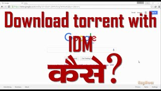 How To Download Torrent File From IDM in Hindi/how to