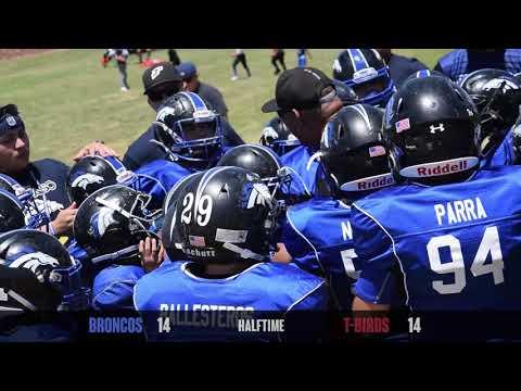 Spring Football - Intermediate Division Broncos vs T-Birds 2018 (El Paso Texas)
