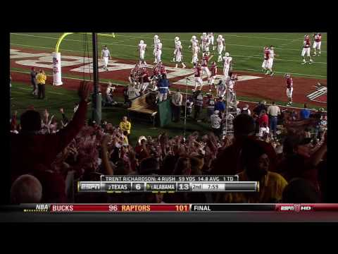 Alabama - Texas 2009 - Trent Richardson runs for the Touchdown
