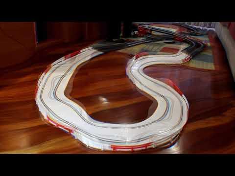 83-Nuevo circuito rally, de Ninco, prueba con 3 coches, de Scalextric, Ninco y Scaleauto
