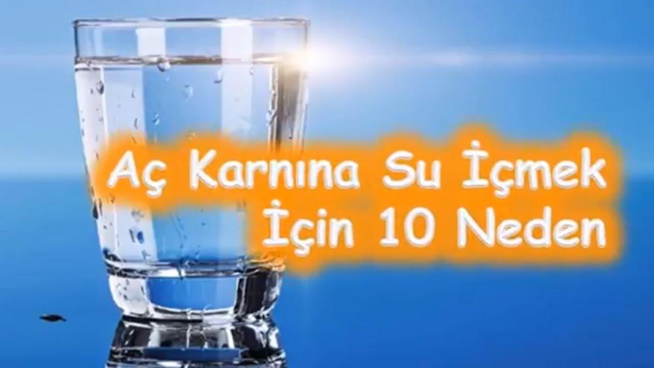 Aç karnına Su İçmenin 10 Faydası