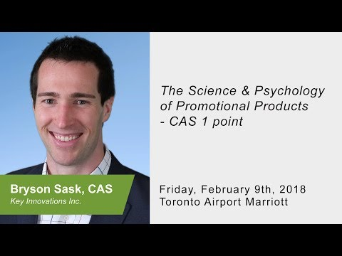 National Convention 2018 Session - Science and Psychology of Promotional Products - Bryson Sask