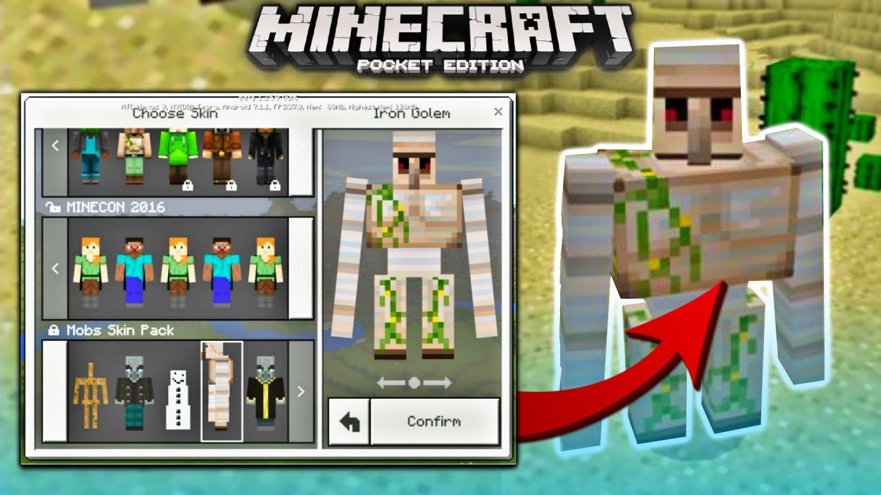 how to turn into any mob in minecraft pe 4d mobs skin pack