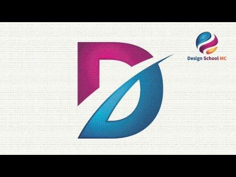 Logo Design illustrator Tutorial For Beginners - Letter D ...