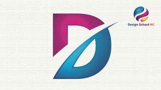 Logo Design illustrator Tutorial For Beginners - Letter D - Simple Logo   Design School MC