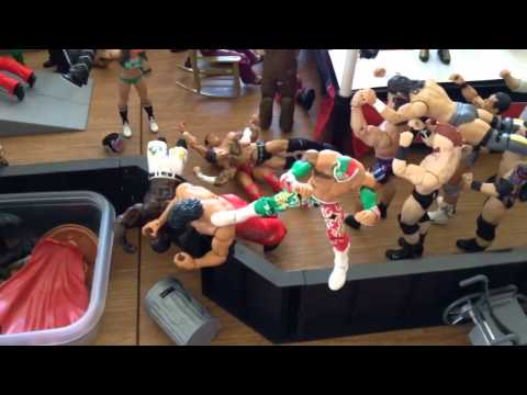 WWE Action Figure set up