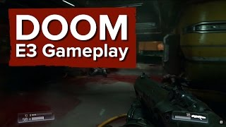 DOOM Gameplay Demo - E3 2015 Bethesda Conference - Finishers, big guns and a chainsaw