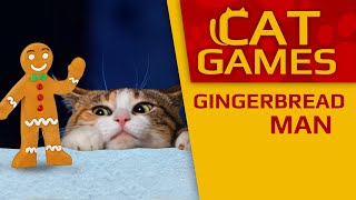 CAT GAMES - 🎄 Gingerbread man (Christmas for Cats) 1 Hour 4K