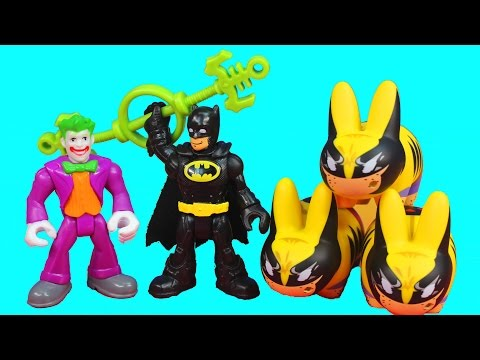 Imaginext Joker Magical Wand Turns Wolverine Into Labbit Batman Returns To Save Him