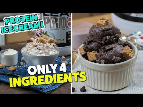 Chocolate & Vanilla PROTEIN Ice Cream Recipe