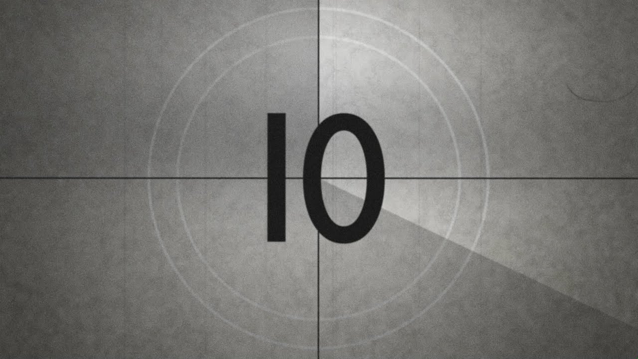 old movie countdown timer with sound effect hd free with