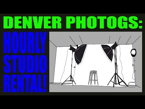 Pro PHOTOGRAPHY Studio Rental Denver, CO