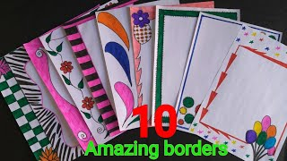 10 beautiful borders for projects handmade simple border designs on paper assignment front page bord