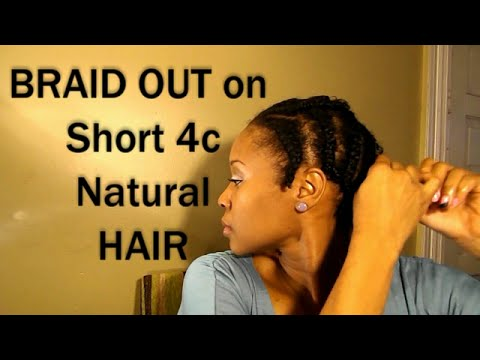 4c Braid Out On Short Natural Hair Results Youtube