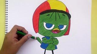 Dibujando y coloreando  a Valeriano (Calimero)- Drawing and coloring to Valeriano ( Calimero )