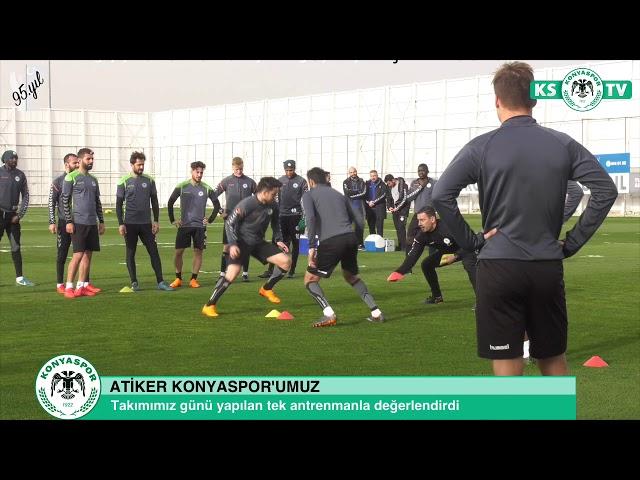 Takımımız yapılan antrenmanla Galatasaray maçı hazırlıklarını sürdürdü