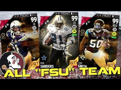 """ALL """"FLORIDA STATE"""" TEAM! 5 MILLION COIN LINEUP! Madden Ultimate Team 16"""
