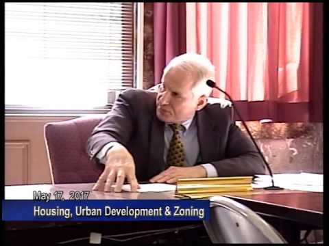 Housing Urban Development and Zoning - May 17, 2017