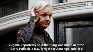 Sealed U.S. indictment for Julian Assange accidentally made public? According to a report by Reuters, on Friday, US prosecutors are preparing a criminal case against Wikileaks founder Julian Assange., From YouTubeVideos