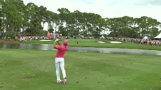 Rickie Fowler sticks his approach at The Honda Classic