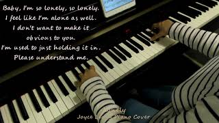 Gambar cover Jonghyun(종현) - Lonely (ft.Taeyeon(태연)) - Piano cover with English Translation.