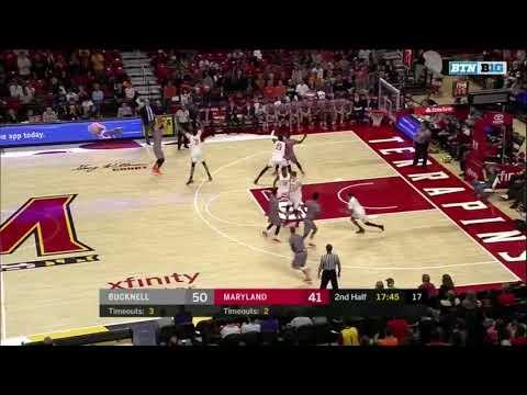 Zach Thomas Bucknell Basketball 2017-18 Highlights (Part 1)