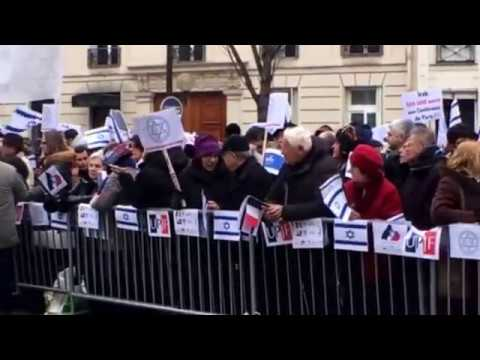 Pro Israeli Demonstration Paris France   January 15, 2017