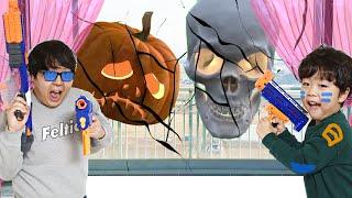 해골과 호박귀신이 나타났다!  물리쳐요 Skeleton JackOLantern  appeared!