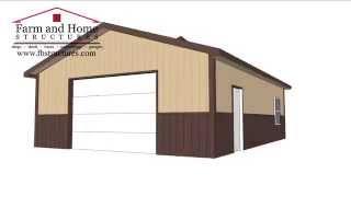 Pole Barn Shed 24x32x9