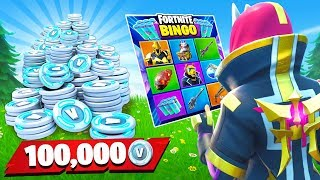 100k VBucks Rainbow BINGO BATTLE vs My Little Brother! (Fortnite Season X)