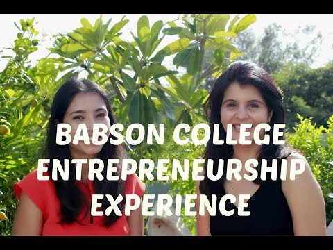 College Experience - Studying Entrepreneurship at Babson College