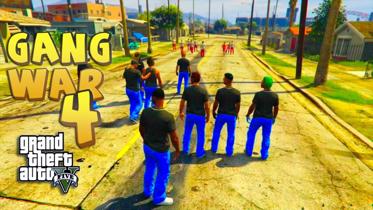 GTA 5 THUG LIFE #4 - GANG WAR BLOOD VS CRIPS