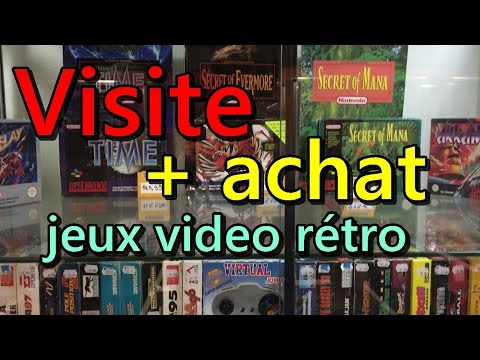 Visite en magasin  jeux video rétro + achat !