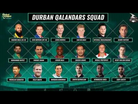 Durban Qalandar team squad for T20 Global League 2017 | GL T20 2017 South Africa
