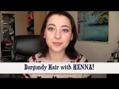Burgundy Hair With Henna Youtube