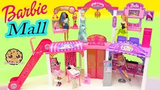 Disney Queen Elsa & Princess Anna Shop at Barbie Malibu Mall Playset - Toy Video Cookieswirlc(Disney Frozen dolls Queen Elsa and sister Princess Anna are shopping at the Barbie Malibu Mall! There are 2 stories to play in with lots of shops including a ..., 2016-02-21T02:09:27.000Z)