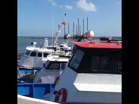Air conditioner repair on boat in trinidad.