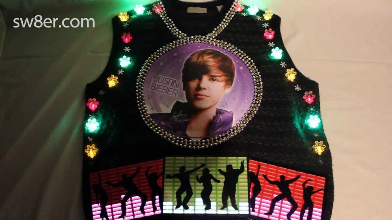 Justin Bieber Christmas Sweater - YouTube