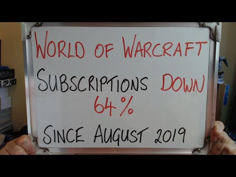 World of Warcraft SUBSCRIPTIONS DOWN 64% Since August 2019
