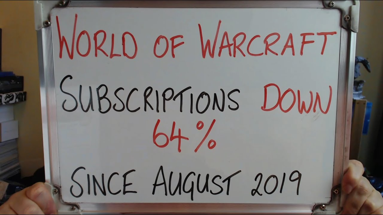 World of Warcraft SUBSCRIPTIONS DOWN 64% Since August 2019 thumbnail
