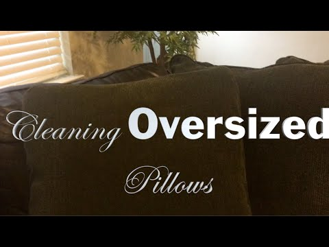 Cleaning OVERSIZED Throw Pillows