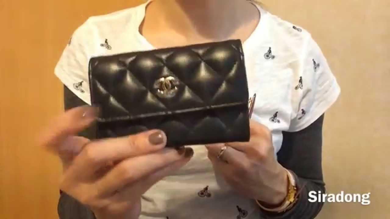 รีวิวเปรียบเทียบ LV business card holder & Chanel card case - YouTube