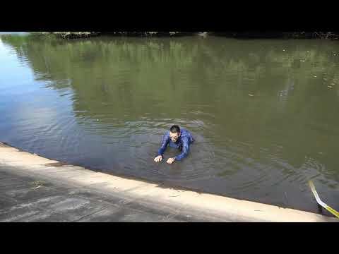動画2 ため池からの這い上がり